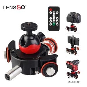 Image 1 - Lensgo l8x 원격 제어 카메라 비디오 전동 전기 슬라이더 모터 nikon canon dslr dv 영화 vlogging gear 용 돌리 트럭