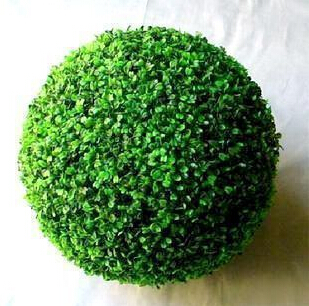 40CM Free Shipping Artificial Plants Green Plastic Grass Ball Christmas Outdoor  Decoration Holiday Supplies 3pcs/