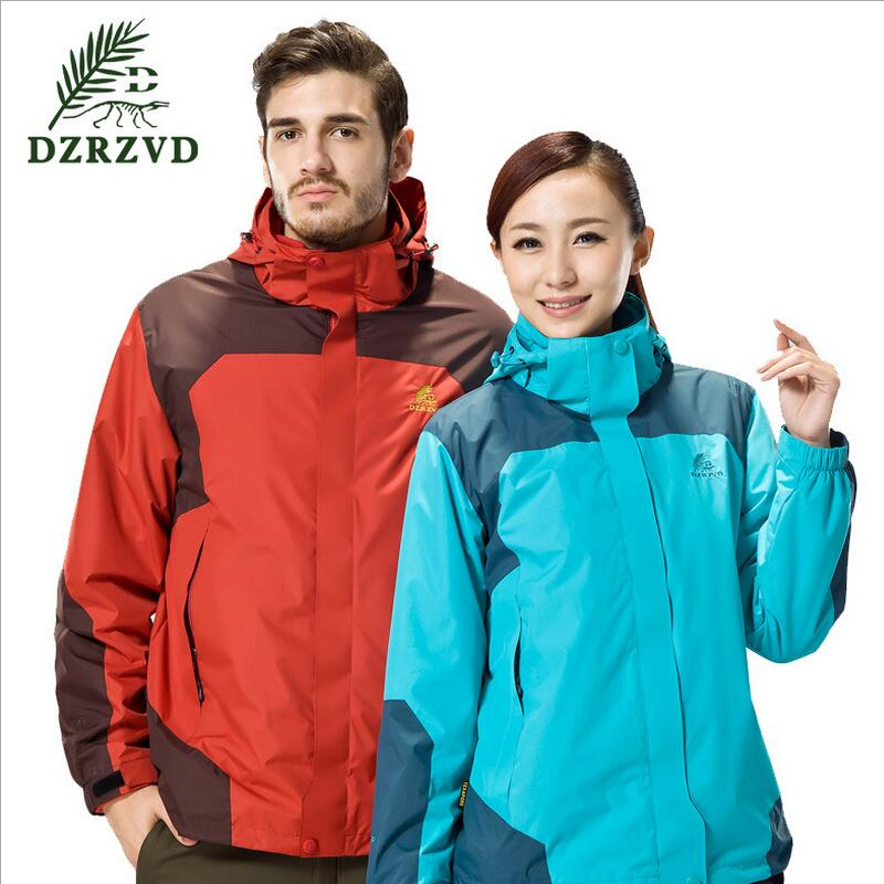 ФОТО Outdoor clothing waterproof windproof fleece two-piece mountaineering jacket women winter jacket for men camping hunting outfit
