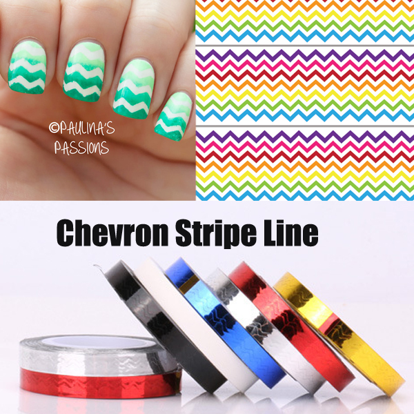 6pcs chevron nail vinyls nail striping tape colorful nail art tape 6pcs chevron nail vinyls nail striping tape colorful nail art tape line stickers lines free shipping prinsesfo Images