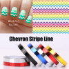 6pcs Chevron Nail Vinyls Nail Striping Tape Colorful Nail Art Tape Line Stickers Lines Free Shipping
