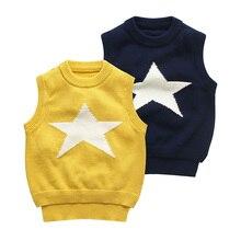 Chandail Gilet pour les Filles et Garçons Étoiles Motif Conception Bébé Gilets Enfants Vêtements Mode Enfants Gilet Enfant Gilet Automne Hiver