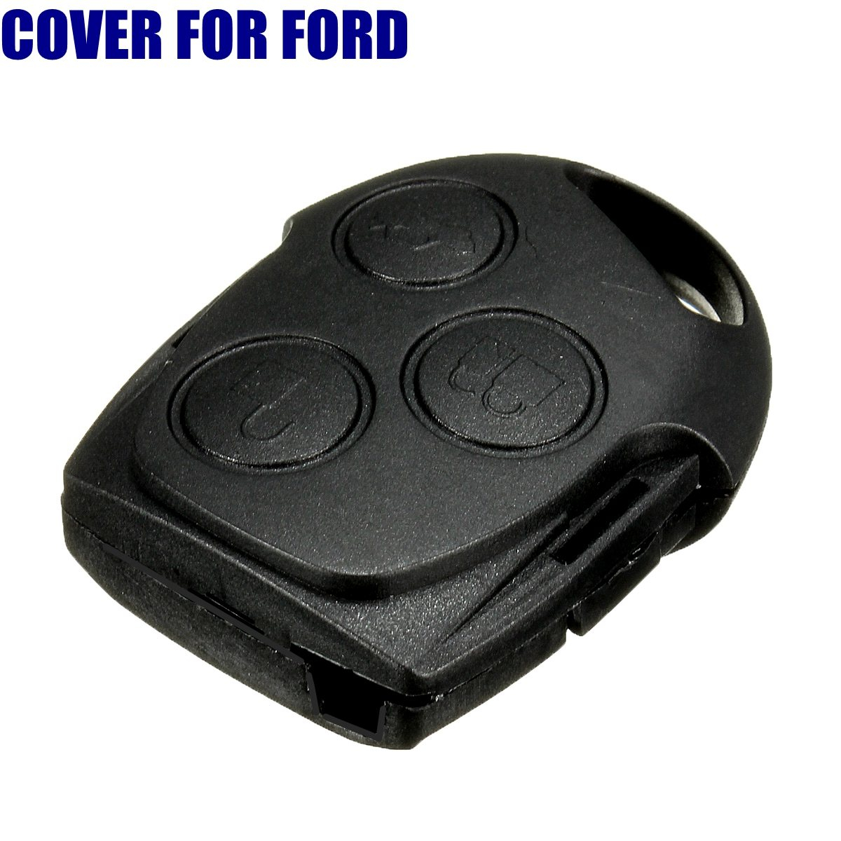 3 Buttons Black Car Remote Key FOB Case For FORD For Focus/Mondeo/Fiesta/C-max
