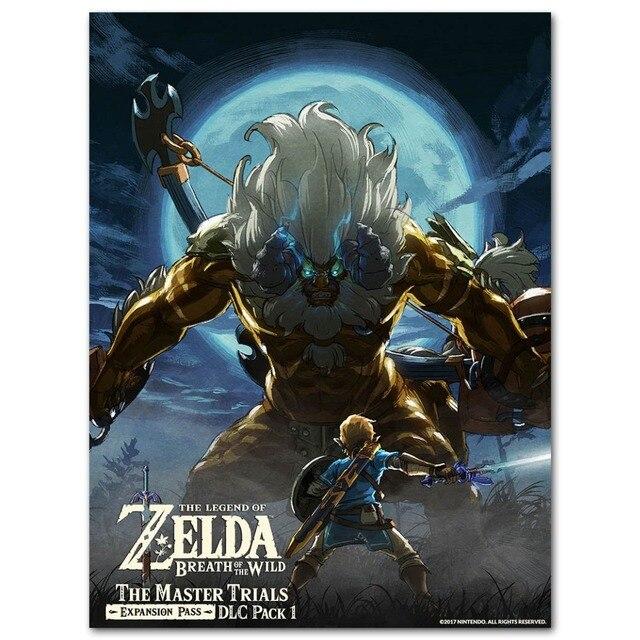 Плакат гобелен Легенда о зельде шелк
