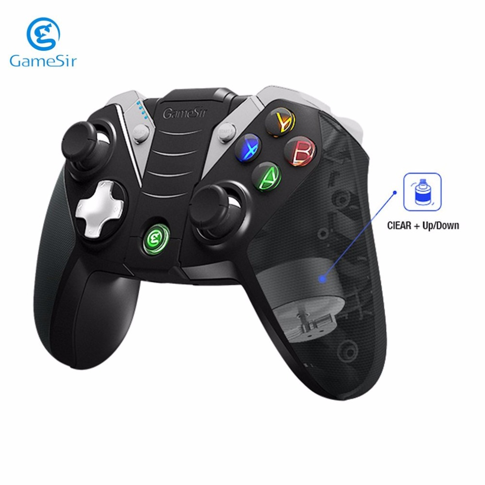 GameSir Wireless Bluetooth Controller Bluetooth Gamepad With Phone Holder For Android TV BOX Phone Tablet For PC VR Games
