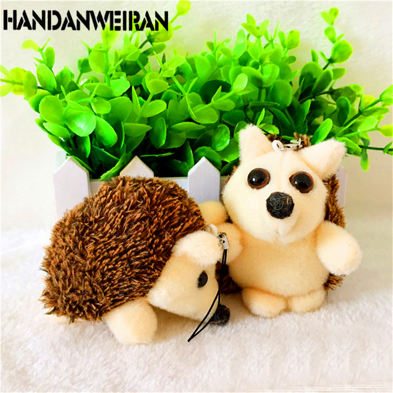 2018 2pieces=1lots Howie Hedgehog Plush Stuffed Animal Toy for girls boys childrens as Gift for Pendant key chain / car buckle