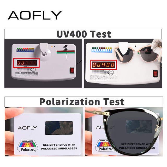 AOFLY BRAND DESIGN New Cat Eye Sunglasses Women Fashion Small Polarized Sunglasses Metal Legs Shades UV400 A105 4