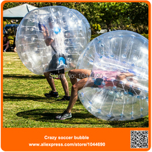 Free shipping ! Top quality inflatable soccer bubble ball,soccer bubble
