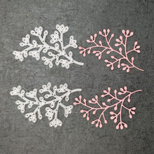 2pcs/set Leaves Metal Cutting Dies For Scrapbooking Stencils DIY Album Cards Decoration Embossing Folder Die Cuts Template Tool(China)