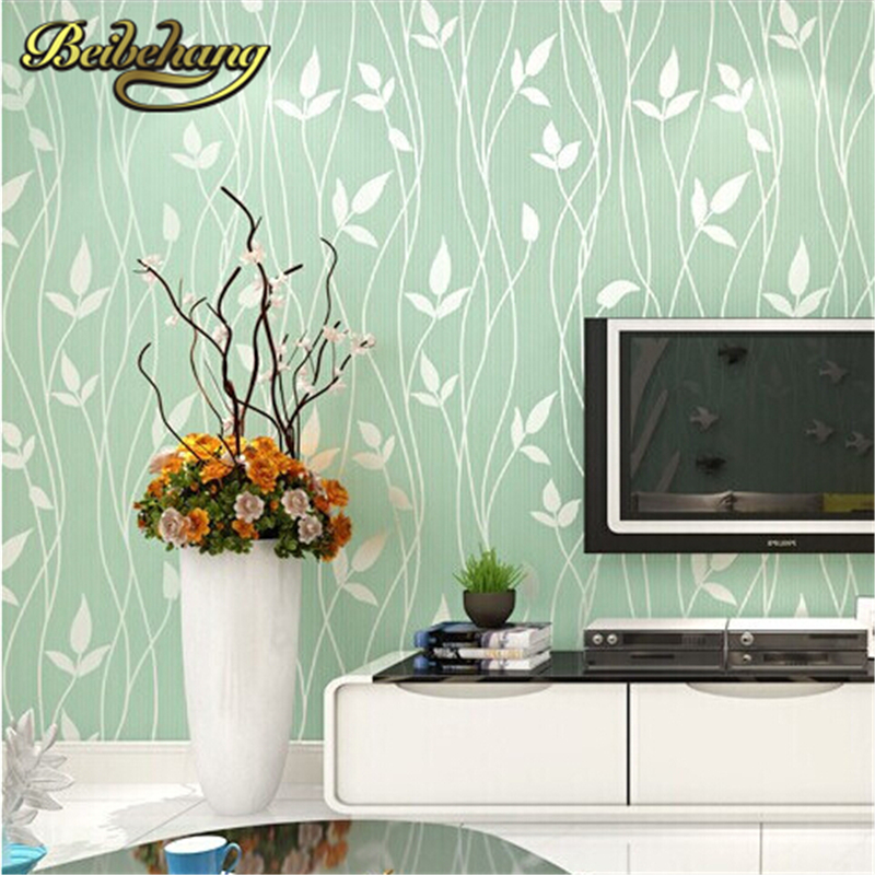 beibehang Non Woven Embossed Flocking Wall Paper Europe Minimalist Modern Style Wallpaper Living Room Tv Background Wallcovering beibehang 3d embossed wallpaper non woven floral design wall covering modern minimalist style living room tv background