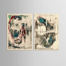 2 Panel decorative painting modern living room wall poster  abstract creative home canvas