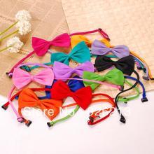 2014 fashionable pet product pet bow tie/ pet accessories/ pet bowknot tie mix color  50pcs/lot fashionable light gray knitted bow tie for men