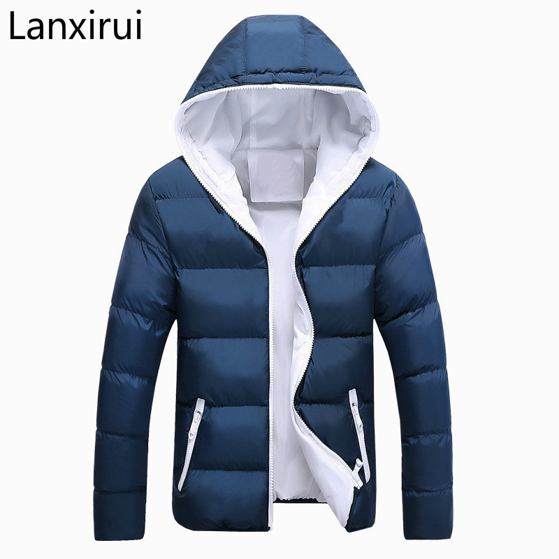Men Winter Jacket Fashion Hooded Thermal Down Cotton   Parkas   Male Casual Hoodies Windbreaker Warm Coats 5xl ,Ya696