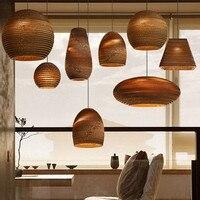 レトロ紙シャンデリアコーヒーショップバーレストランラウンジライト折り紙ランプ紙ランプシェードロフト家の装飾ヴィンテージシャンデリア|シャンデリア|   -