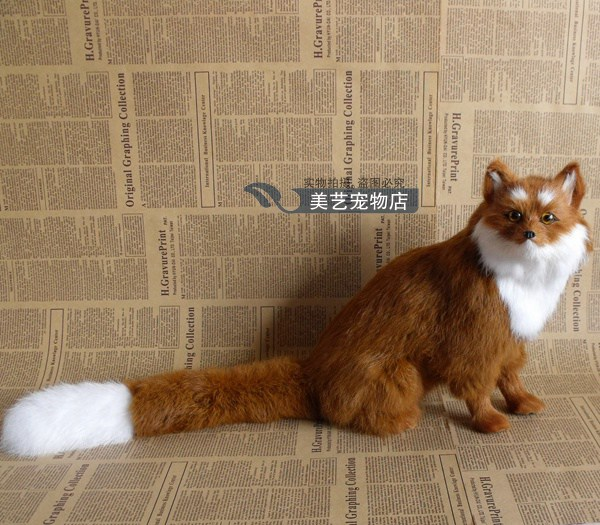 simulation fox 28x15x26cm toy model polyethylene&furs fox model home decoration props ,model gift d152 simulation animal large 28x26cm brown fox model lifelike squatting fox decoration gift t479