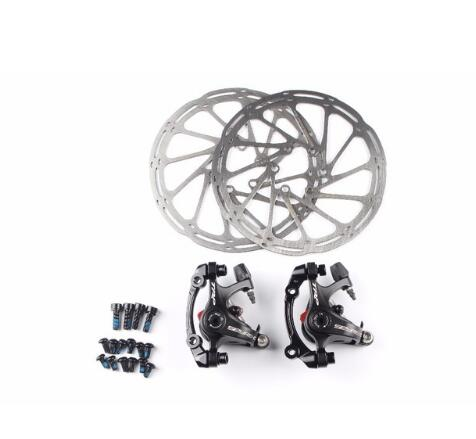 TRP Spyre for road bike bicycle Alloy Mechanical Disc Brake Set Front & Rear Include 160mm Centerline rotor trp spyre alloy road bike bicycle mechanical disc brake caliper front rear wihtout rotor free shipping