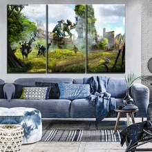 Canvas Painting Modern Print Type One Set Modular Style 3 Piece Aloy And Robot Picture Horizon Zero Dawn Game Poster Home Decor