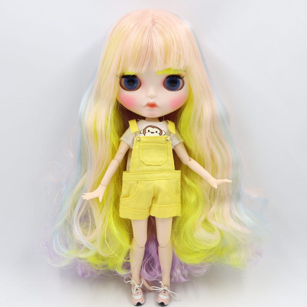 Oyuncaklar ve Hobi Ürünleri'ten Bebekler'de BUZLU Çıplak Blyth Doll Için No. 708400660052352 (330) renkli saç Oyma dudaklar Mat yüz kaşları Ortak vücut 1/6bjd'da  Grup 2