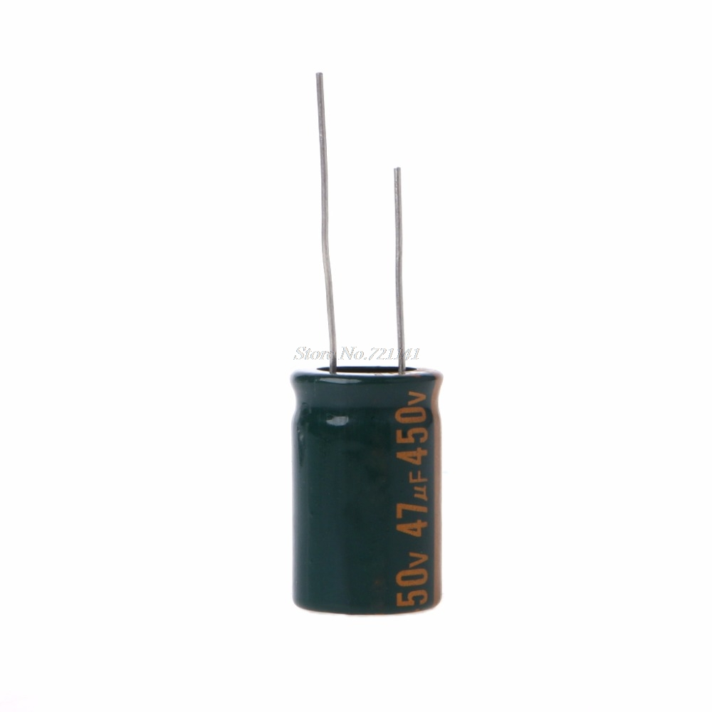 450V 47uF Capacitance Electrolytic Radial Capacitor High Frequency Low ESR