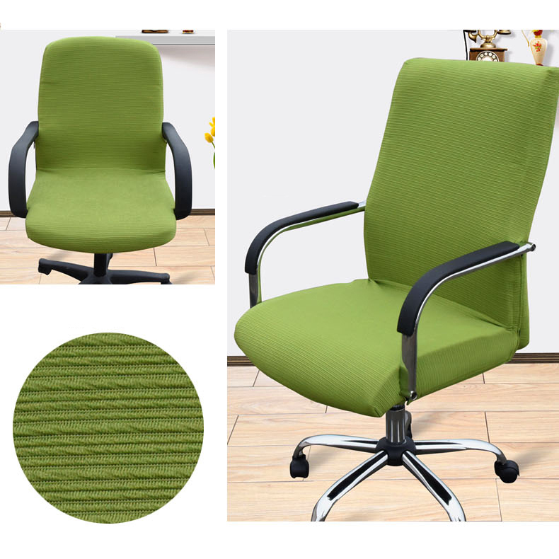 office chair covers to buy oxo sprout high replacement parts homing solid color big elastic computer cover living room case stretch tight wrap anti dirty seat