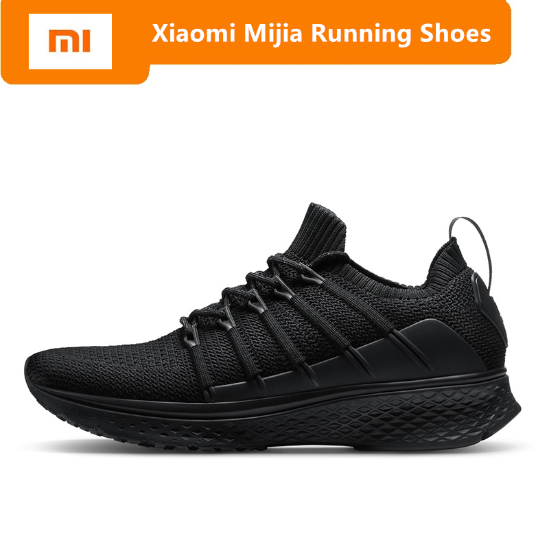 Original Xiaomi Mijia Sneakers 2 Men's Sports outdoor Shoes Mi smart sneaker Elastic Knitting Breathable Vamp Running Shoes xiaomi smart shoes mijia running shoes