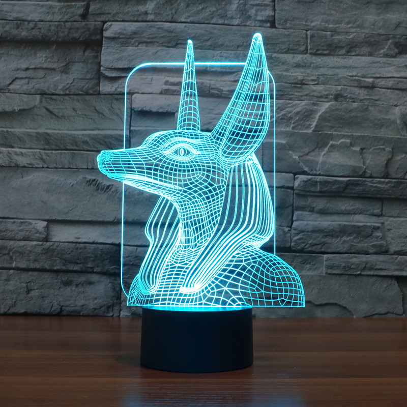 2016 Pharaoh Guardian 1 3D lights colorful touch LED visual light gift atmosphere table light