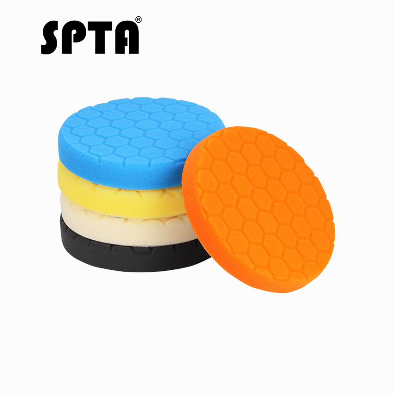 SPTA 7inch 180mm polishing pads Buffer Foam Buffing Polishing Pads Buffing Pads Car polishing pads For DA /RO Car PolisherSPTA 7inch 180mm polishing pads Buffer Foam Buffing Polishing Pads Buffing Pads Car polishing pads For DA /RO Car Polisher