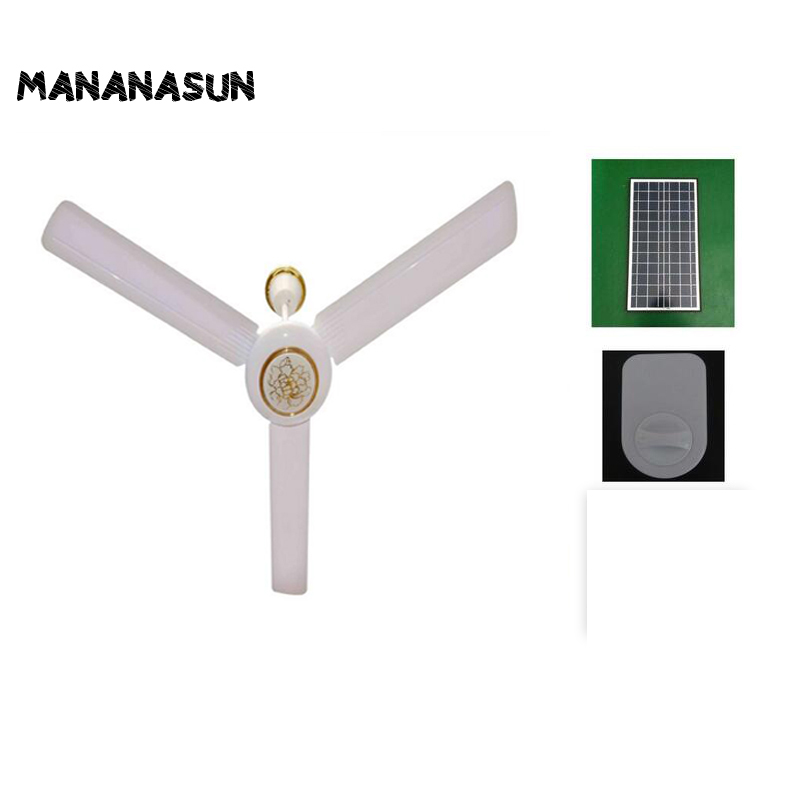 dc solar powered ceiling fan used for outdoor summerhouse camping gazebo shed greenhouse indoor household-cooling