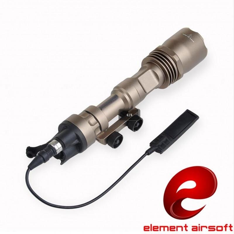 elemento airsoft arma m961 softairo arma arma tactical lanterna led lampada luz caca linterna luz