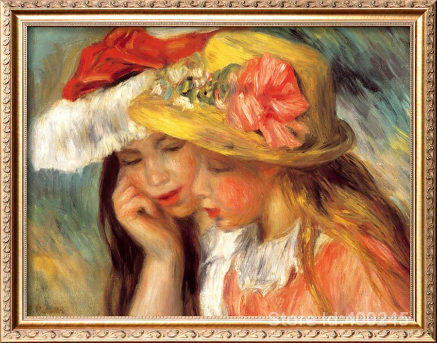 painting of girls Deux Soeurs Pierre Auguste Renoir canvas art bedroom decor hand painted High qualitypainting of girls Deux Soeurs Pierre Auguste Renoir canvas art bedroom decor hand painted High quality