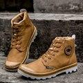 2017 Nuevos Hombres De Moda Las Botas de Invierno Hombres de Nieve Botas Zapatos de Los Hombres tobillo Boot Tamaño Grande Hombres Zapatos Botas de Piel de Felpa Caliente de La Ue 39-45