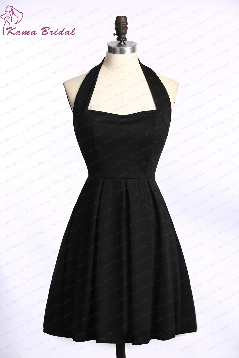 016c5aa219 Sexy Black Short Cocktail Dresses Halter A line Mini Party Gown Petite  Girls Night Party Gown Cheap Cocktail Dresses under 50-in Cocktail Dresses  from ...