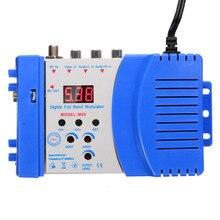 цена на High Performance Auto RF Modulator Digital RF Modulator Audio Video AV To TV Converter Adapter VHF UHF Signal Amplifier