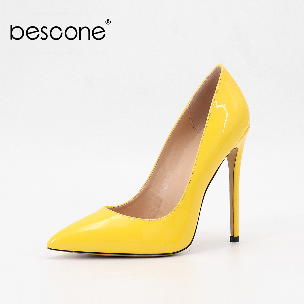 BESCONE New Spring Excessive-quality Patent Leather-based Excessive Heel Attractive Pointed Toe Tremendous Excessive Heels Put on-resistant Skidproof Footwear BU2 Ladies's Pumps, Low-cost Ladies's Pumps, BESCONE New Spring Prime quality...