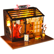 CUTEBEE DIY Doll House Wooden Doll Houses Miniature dollhouse Furniture Kit Toys for children Christmas Gift TD27