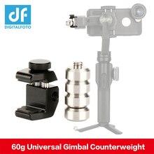 60g evrensel Gimbal karşı ağırlık için karşı ağırlık Zhiyun pürüzsüz 4 Q Feiyu G6 G6 artı Dji OSMO Lens denge plaka