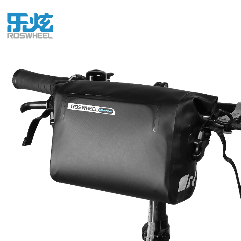 Roswheel Complete Waterproof Bike Bag Handlebar Bag Front Bike Cycling Bag Bicycle Bags Bicycle Accessories Rainproof Nylon leadbike a44 bike handlebar phone bag