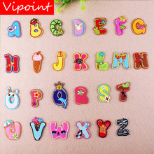 VIPOINT embroidery letter patches alphabet badges applique for clothing YX-227