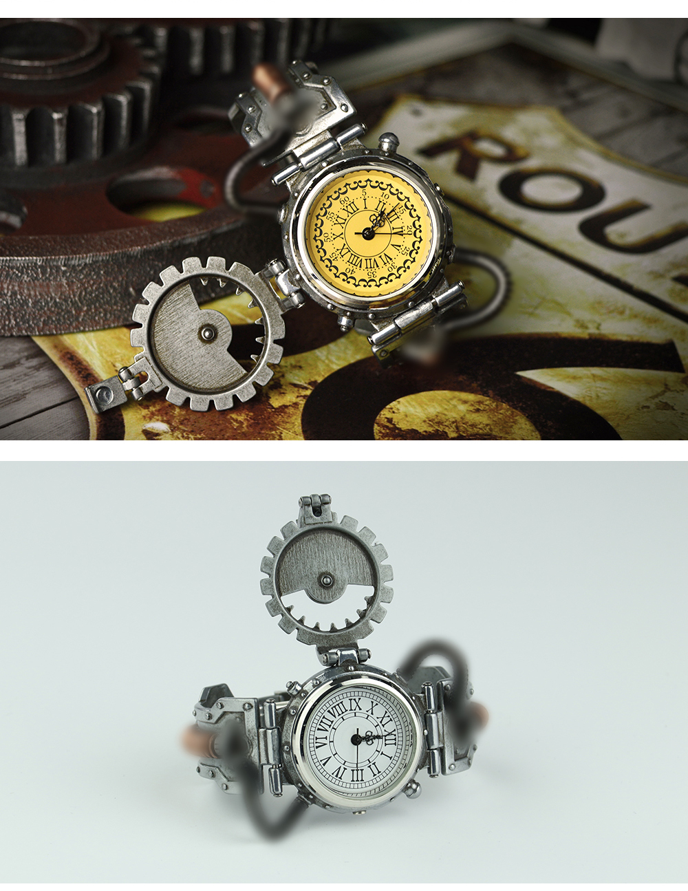Topdudes.com - Retro Steampunk Wristwatch