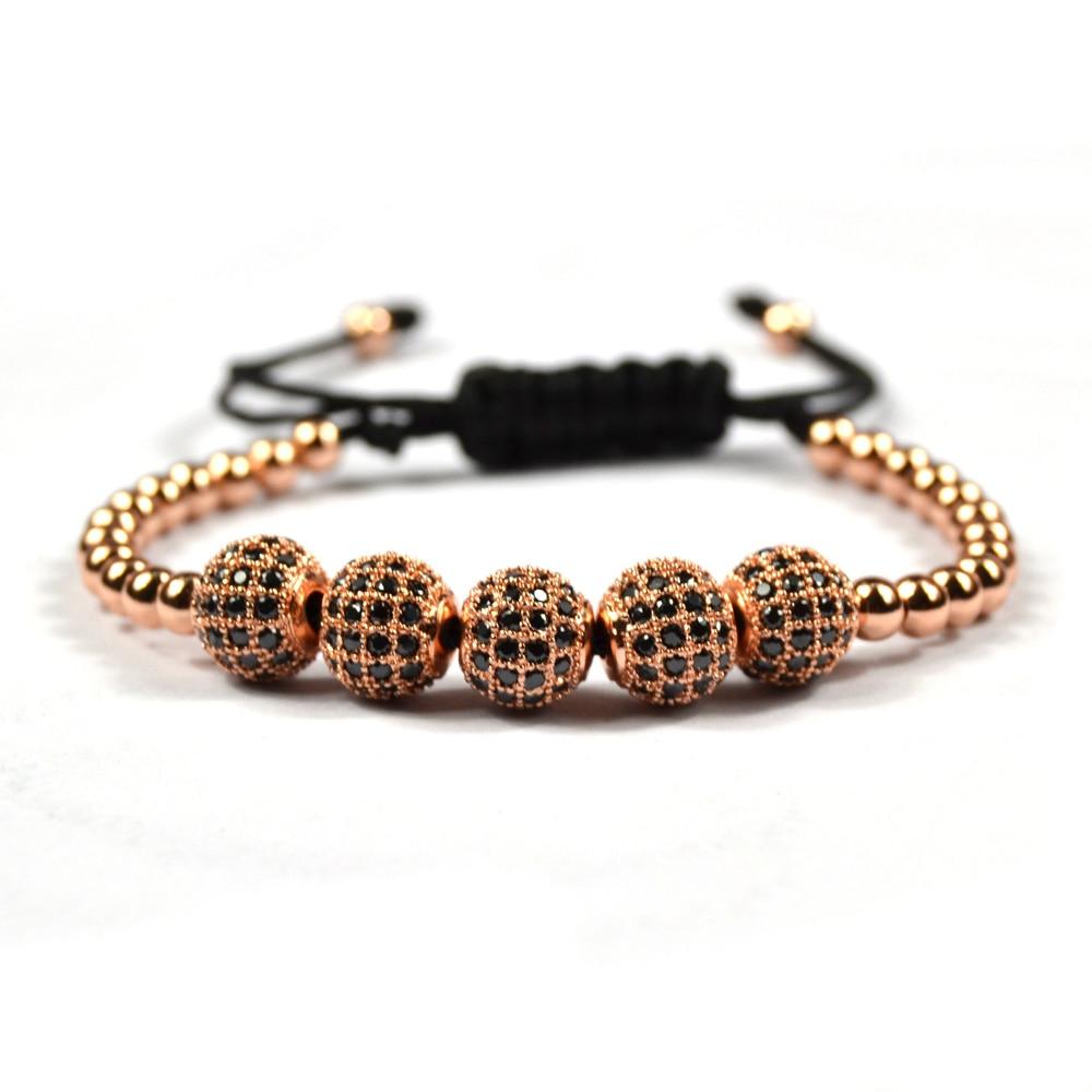 rose gold men bracelets diy bracelet homme pave setting cz macrame beads buddha jewelry anil. Black Bedroom Furniture Sets. Home Design Ideas