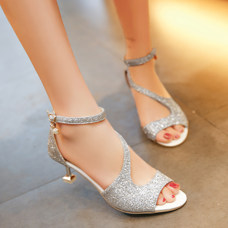 High quality fashion sexy women pumps shoes sanglaide silver ladies high heels shoes gold women designer