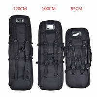 85cm 100cm 120cm Outdoor Hunting Bag Dual Rifle Square Carry Bag Tactical Shoulder Strap Gun Protection Backpack Gun Carry Bag