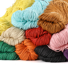 15 Colors 650 Meters/Roll 1mm Diameter Waxed Cotton Cord Round Thread String Rope For Necklace Bracelet Jewelry Making DIY Craft 100yards spool 1mm waxed cotton cord thread cord plastic string strap diy rope bead necklace european bracelet ma