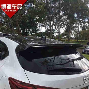 Misura per MAZDA 3 Axela in fibra di carbonio posteriore spoiler posteriore ala