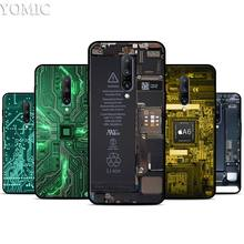 Circuit board Silicone Case for Oneplus 7 7Pro 5T 6 6T Black Soft Case for Oneplus 7 7 Pro TPU Phone Cover