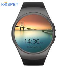 KOSPET KW18 Bluetooth smart watch mężczyźni kobiety obsługuje Monitor pracy serca SIM niech 3G karty TF o pojemności 16 GB smartwatch dla Androida z systemem IOS tanie tanio Hiszpański Francuski Niemiecki Rosyjski Indonezyjski Angielski Portugalski Włoski Polski Turecki Holenderski Hebrajski