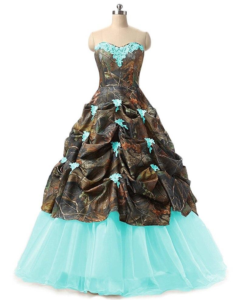 Camo Wedding Dresses.Us 74 76 16 Off Gardlilac Sweetheart Ball Gown Camo Wedding Dress Off The Shoulder Applique Wedding Dress For Bride In Wedding Dresses From Weddings