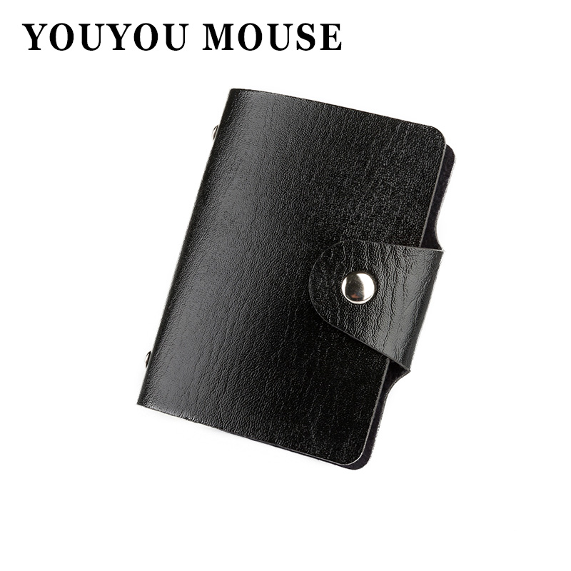 YOUYOU MOUSE 1pcs Men s Women Leather Credit Card Holder Case Card Holder Wallet Business Card Package PU Leather Bag