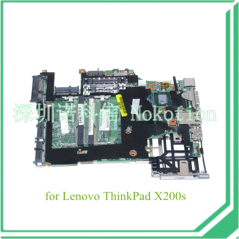 NOKOTION FRU 44C5341 main board for lenovo thinkpad X200S laptop motherboard 1.86Ghz SL9400 CPU DDR3 60Y3849