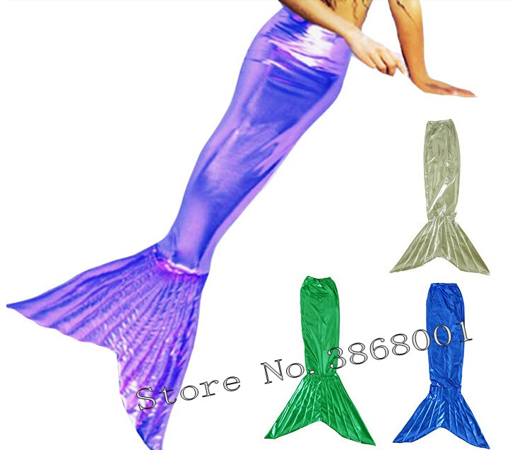 Custom made Zentai Catsuit Tights Shiny Metallic Fancy mermaid tail women girl Mermaid Tail Swim Bikini Swimsuit Swimming